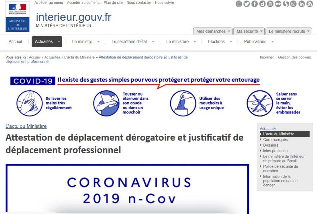 Covid 19 Deplacements Professionnels Et Derogatoires Aqps